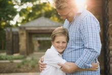 Father and son in Westlake Ft. Worth Texas by Sunny Mays Photography