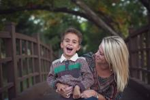 Mother and son playing by Sunny Mays Photography Southlake Keller