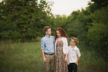 Keller Tween siblings in a Trophy Club field near Southlake by Sunny Mays Photography