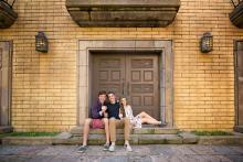 Teenage siblings in Las Colinas Canals by Sunny Mays Photography