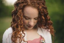 Beautiful red head girl in Trophy Club Southlake Keller Texas by Sunny Mays