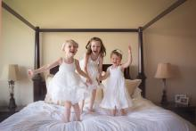 In home family lifestyle sessions large family Southlake Trophy Club Grapevine Flower Mound