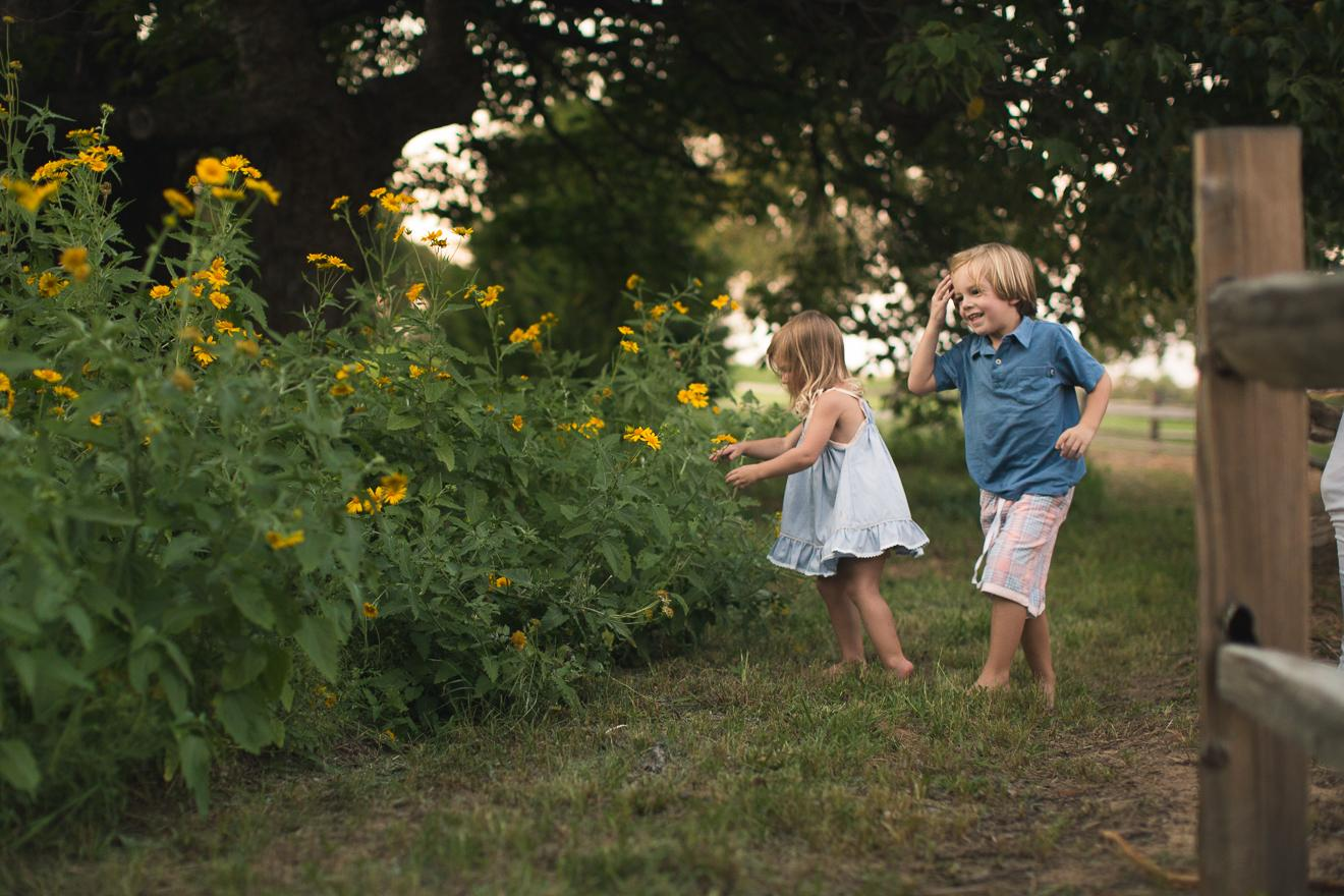 picking flowers in Vaquero Westlake by Sunny Mays